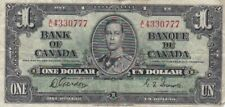 1937 Canada $1 Note, Series A/L, Pick 58d