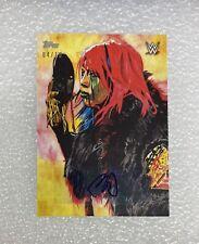 2020 Topps WWE Undisputed Schamberger Art Superstar Autographs ASUKA #'d /10