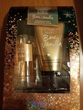 NEW VICTORIA'S SECRET BARE VANILLA BODY SPRAY MIST & LOTION TRAVEL SIZE GIFT SET