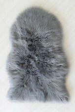 Plain Soft Fluffy Bedroom Faux Fur Fake Sheepskin Rugs Washable Hairy Mat D Grey