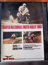 MOTO GUZZI NATIONAL TROPHY MOTO RALLY 1987 ITALIAN ITALY 650CC NTX DEALER POSTER