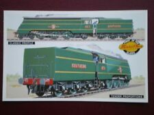 POSTCARD MERCHANT NAVY LOCOS - PROFILE & TENDER