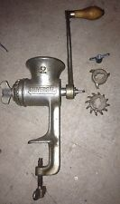 Vintage 1950's Cast Iron Meat Grinder #2 Universal Made in USA Table Mount