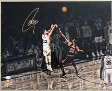 Stephen Curry Autographed LeBron James NBA Finals signed 16x20 photo STEINER JSA