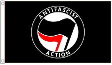 Anti-Fascist Action Anti-Racism 5'x3' Flag