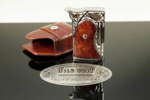 Dupont Wild West Feuerzeug + Etui Palladium Holz Lighter Limited Edition ***/600