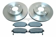 for HONDA PRELUDE 2.2 2.3 1993-1997 FRONT 2 BRAKE DISCS AND PADS SET NEW (4STUD)