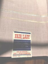 "Vtg Fair Lady Rayon 52"" X70"" Table Linen Pink Fancy Gold Silver Mint Free Ship"