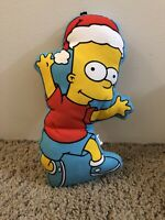 """The SIMPSONS=BART SIMPSON """"SOFT DOG TOY"""" by KELLYTOY/2003 SQUEAKS"""