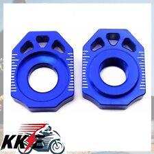 KTM CNC REAR AXLE ADJUSTER AXLE BLOCKS 00-12 SX XC EXC XCW 125-530 BLUE 20MM