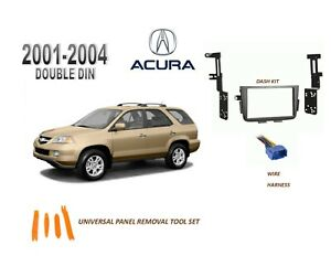 NEW 2001-2004 ACURA MDX Car Stereo Double DIN Dash Kit, with Wire Harness