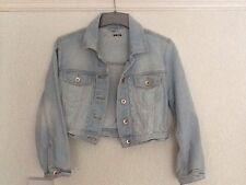 Topshop cropped denim jacket size 10
