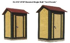 American Model Builder Laser Cut Wood HO ATSF Single Stall Yard Closets 167