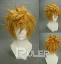 Kingdom Hearts II 2 1st Version Sora Gold Yellow Cosplay Costume Wig:s