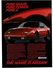 1987 Nissan 300 ZX Red 2-door Coupe VTG PRINT AD