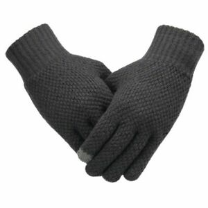 Warm Knitted Gloves Touch Screen High Quality Male Mitten Thicken