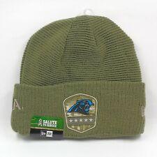 New Era Cap Men's NFL Carolina Panthers Salute To Service Winter Knit Beanie Hat