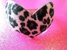 Faux Fur Heart Bracelet