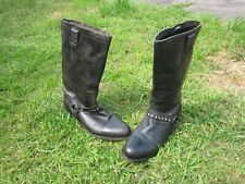 Size UK 5 Eu 38 H by Hudson Leather BLACK Western CALF Boots Cowboy/Biker/Grunge