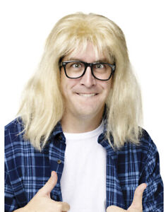 Garth Algar Wayne's World Wig and Glasses Dana Carvey Movie SNL Costume Kit