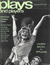 """Lauren Bacall """"APPLAUSE"""" Tennessee Williams / Candy Darling 1972 London Magazine"""