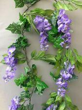 8FT Artificial English Ivy & Purple Wisteria Garland Wedding/Festival Decoration