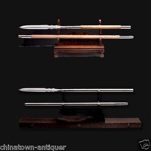 Chinese ZhaoYun Overlord Spear pike sword Hand Forged pattern steel blade #1456