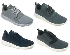 Crosshatch Canvas Trainers Fashion Plimsolls Sporty Shoes Grey Navy White Black
