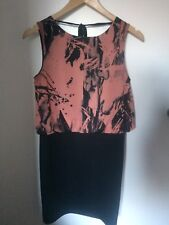 New Look Cameo Rose Paint Splatter Print Backless Body Con Dress