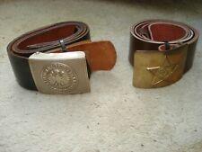WW2 German & Russian belts,  Sam Brown officers belt collection