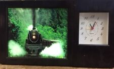 Battery Operated Clock with Train Picture
