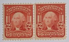 Travelstamps: 1903 US SCOTT #319c 2cents, SCARLET ,WASHINGTON TYPE I PAIR MNH OG