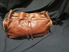 JUICY COUTURE BROWN LEATHER   HANDBAG  WITH CHARM DAYDREAMER / HOBO STYLE NEW