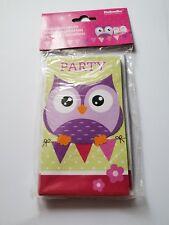 Einladungskarte 8 Stück Eule Owl Kinder Geburtstag Party Happy Birthday