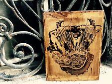 Vintage Harley Davidson J JD Engine Home Decor Wooden Picture Wall Decor Artwork