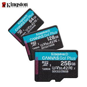 Kingston 64GB 128GB 256GB Canvas Go! Plus UHS-I microSDXC Memory Card 170MB/s