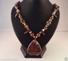Gemstone Handmade Statement Costume Necklaces & Pendants