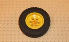 Lego-Rueda 62.4 X 20, Con Neumático Negro 62.4 X 20 X 1, amarillo (32020c01) TW16