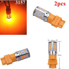 2pc (No Flash) Amber 3157 35SMD Super Bright LED Turn Signal Light Bulbs