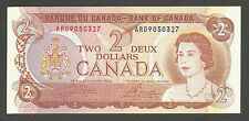 Canada 2 Dollars 1974; AU+; P-86b, C-BC47b; QEII; Inuits preparing for hunt