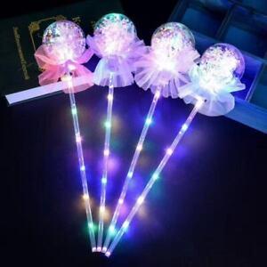 LED Light-Up Lollipop Balloon Glow Sticks LED Girls Princess Wand Cake Topper