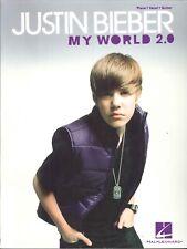 Justin Bieber My World 2.0 Songbook Piano Voice Guitar Baby Runaway Love U Smile