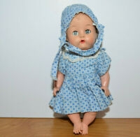 """Vintage BABY DOLL 7"""" Vinyl With Open & Close Eyes Unmarked 1950s 1960s"""
