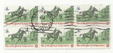 USA Scott 1476- Spirit of Independence, Pamphleteer- MNH 8c 1973 Used BLOCK OF 6