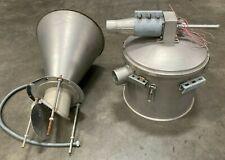 Aluminum Hopper Feeder Tank With Cone Bottom Attachment 40h X 21 Diameter
