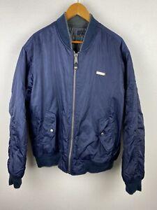 South Pole Mens Reversible Harrington Jacket Size M Soft Shell Nylon Blue