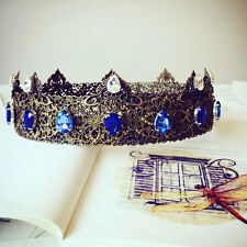 Medieval Crown Blue, Renaissance Crown, Custom Wedding, Blue Bridal Crown, Tudor