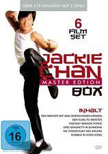 6 Film JACKIE CHAN KUNG FU MASTER Pugno di morte SHANGHAI Missione Force Box DVD