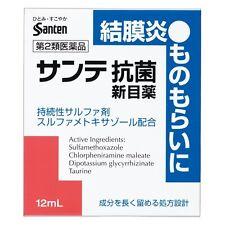 Santen Sante Eye Drops ANTIBACTERIAL For Conjunctivitis 12ml New Japan