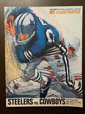 Pittsburgh Steelers 11/20/1966 NFL program vs Dallas Cowboys - Pitt Stadium